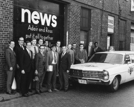News Department at WJW-TV Cleveland in 1969