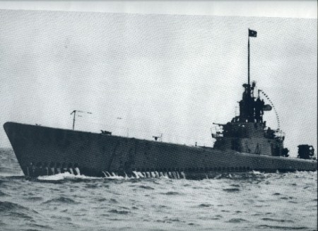 Rare Picture of USS Cod on Patrol in WWII