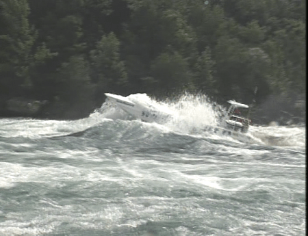 Another view of Whirlpool Jetboat in Niagara River