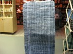 Old Jeans and workclothes turned into a rag rug at Lehman's