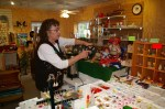 Pat Sell in Gift shop at the Christmas Tree Farm