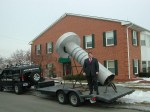 "Realtor Ralph Roberts with ""Big Nail"" in Warren, Michigan"