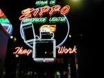 Neon Zippo sign in museum