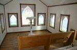 Interior of the 13-seat wedding chapel at Unusual Junction