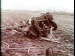 The F-4 Tornado picked this car up and rolled it like a toy across this field