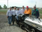 Me posing with staff of Northwestern Ohio Railroad Preservation Organization
