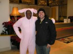 "Winter Festival in Cleveland with character from House in  ""A Christmas Story"""