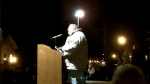 Neil greeting crowd at Roscoe Village Candle Lighting