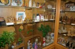 One of many display cases holding Nativity scenes from around the world