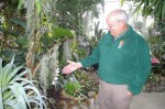 Grant Thompson Chief Naturalist for the Metro Parks points out a rare orchid