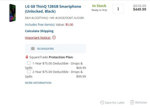 LG G8 ThinQ bill