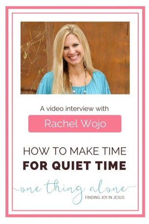 If you're trying to make time for quiet time, this video interview with mother of seven Rachel Wojo is just what you need to watch today!