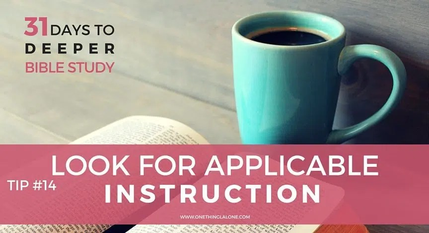 Look for applicable instruction