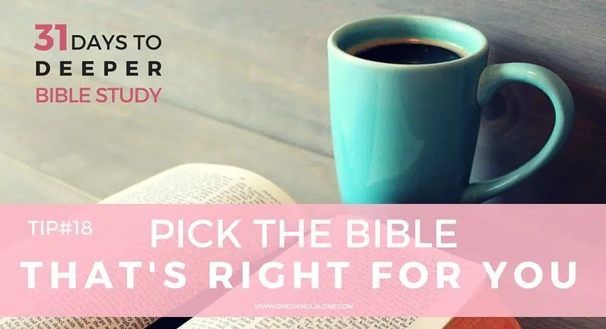 Which Bible translation is right for you? Find out in this post...