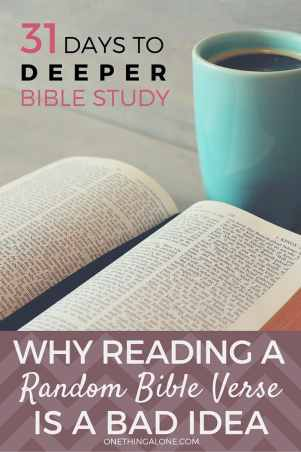 Wow! I didn't realize that reading a random Bible verse is such a bad idea! Glad I know now.