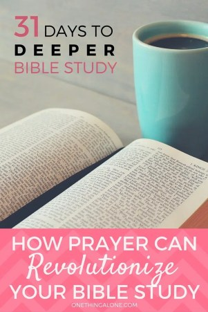 Prayer can supercharge Bible study to take it to a whole new level.