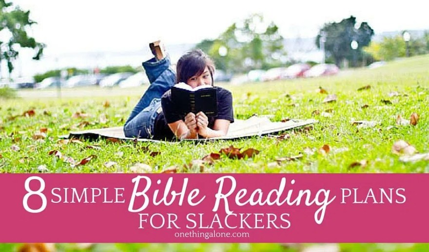 I always fall behind in my Bible reading plans, so this list is perfect for me!