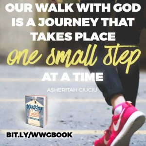 Our walk with God is a journey that takes place one small step at a time