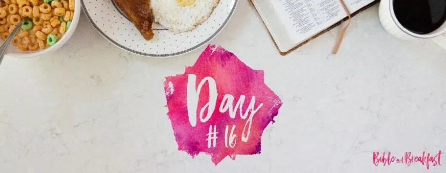 Bible and Breakfast Challenge Day 16