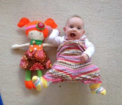 First dolly...she's just a bit bigger than dolly!