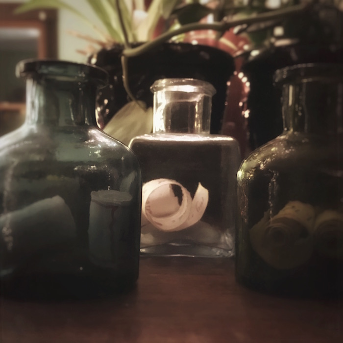 photo of wishing jars