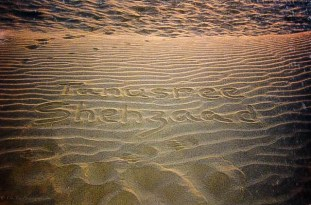Sand dunes had the names written, Jaisalmer (2000)