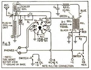 "1940 ""Mighty Midget"" One Tube Shortwave Receiver"