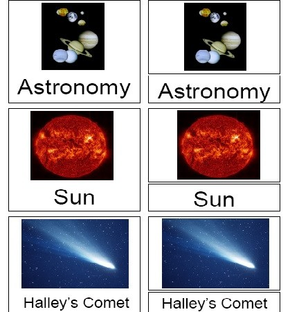 Free 21 piece Astronomy 3-Part Card Set