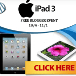 Free Bloggers Event – iPad3 Holiday Event Sign-Up