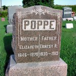 {Tombstone Tuesday}: Ernst Rudolph & Barbara Elizabeth Poppe