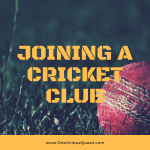 Joining A Cricket Club