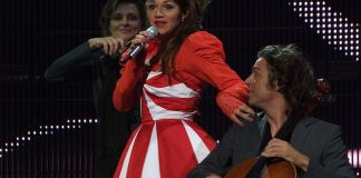 Ishtar at first semi-final, Eurovision Song Contest 2008 in Belgrade, Serbia, May 20, 200
