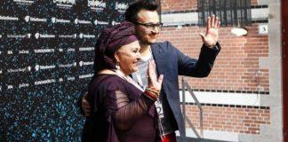 Esma & Lozano met press at the Euroclub