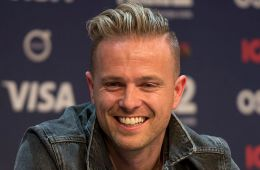 Nicky Byrne at a Meet & Greet during the Eurovision Song Contest 2016 in Stockholm.