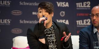 Hovi Star at a Meet & Greet during the Eurovision Song Contest 2016 in Stockholm.
