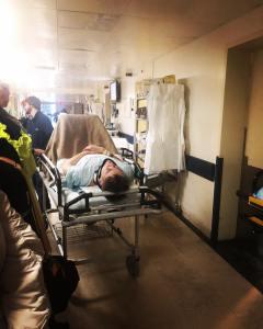 Miklos in hospital