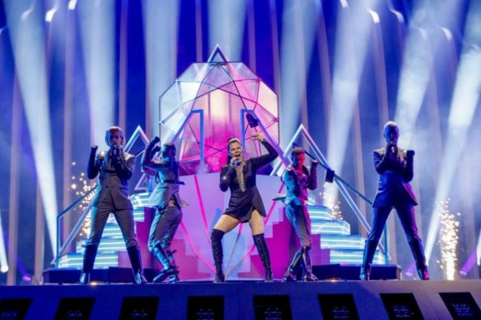 Saara Aalto at Eurovision 2018