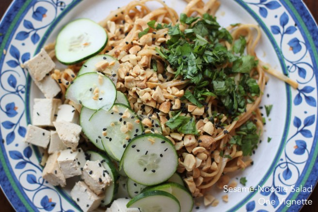 Recipe. Sesame Peanut Noodles. plate 2