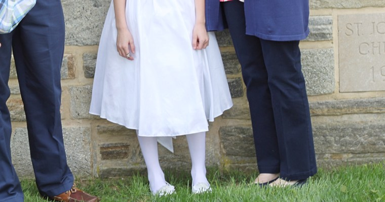 The Mighty Shows Up: It's Quinlan's First Holy Communion
