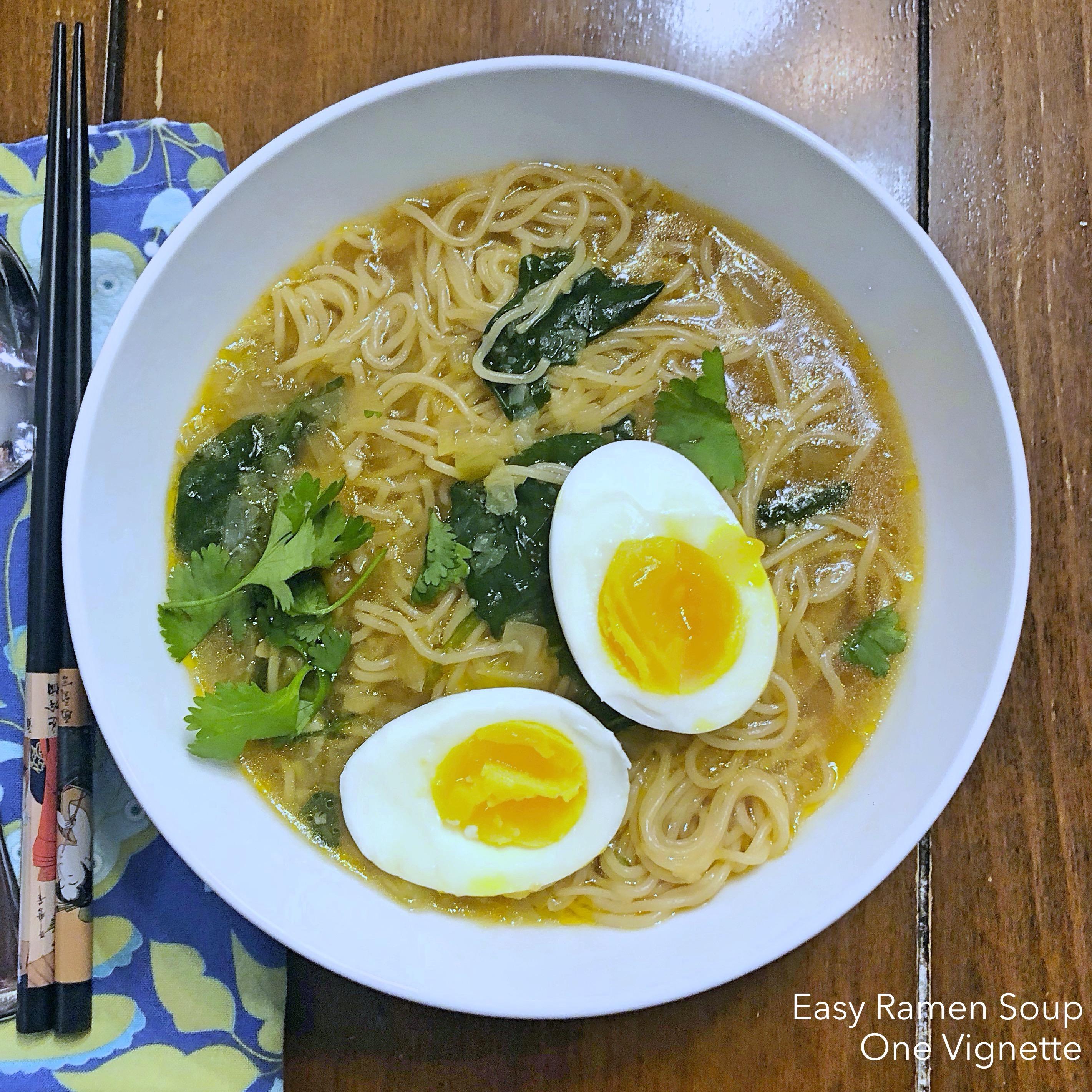Leah Cooks Easy Ramen Soup