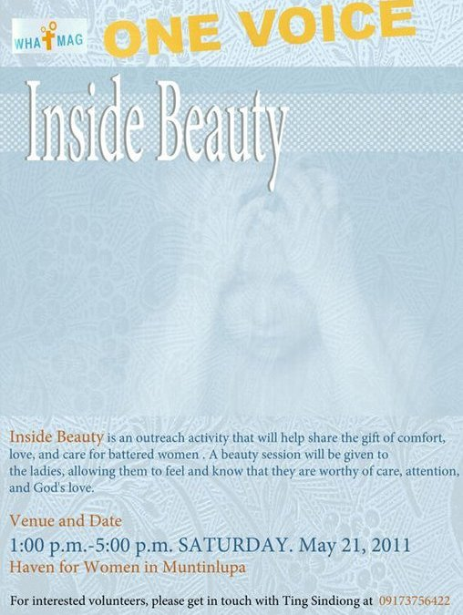 Inside Beauty – Outreach for the Battered Women
