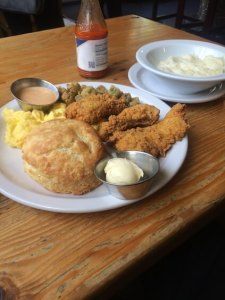 Portland, Muscadine, Catfish, Grits, lunch, foodie