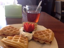 It took me a while to figure out where the other 'half' of my waffle was.