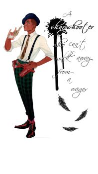 Six of Crows by Leigh Bardugo *CHARACTER ART CREDIT GOES TO KEVIN WADA*