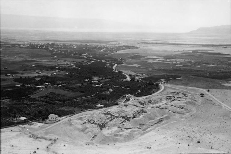 Aerial view of the old Jericho road