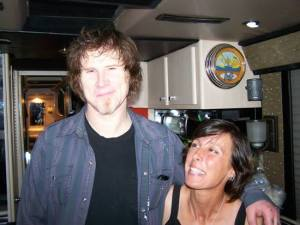 2009, me with Mark on the Soulsavers tour bus. Photo by Rich Machin.