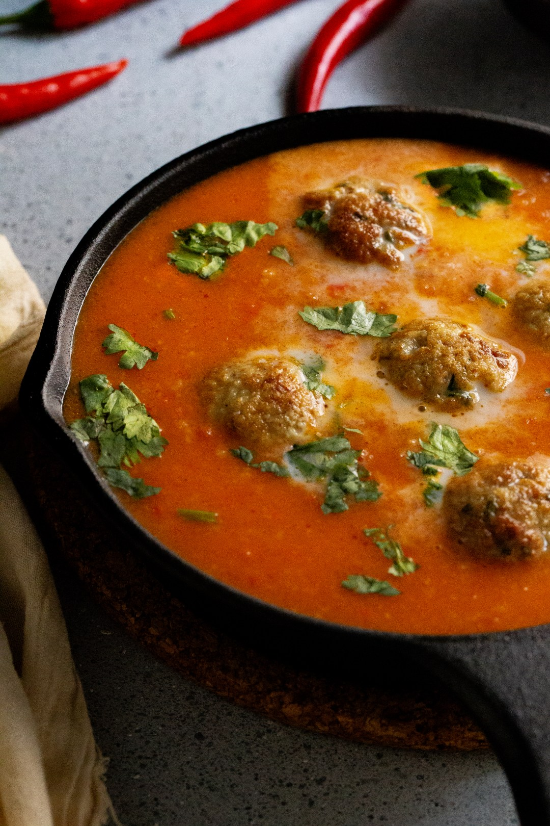 Chicken Meatballs in Spicy Red Gravy by OneWholesomeMeal