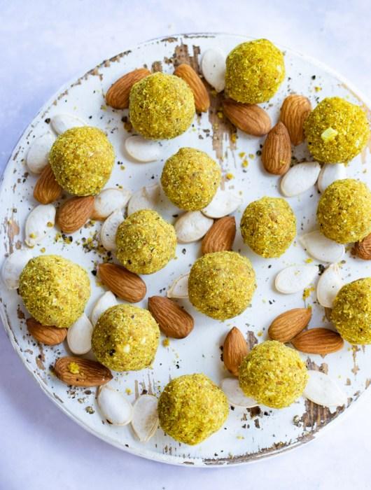 Almond Turmeric Bliss Balls