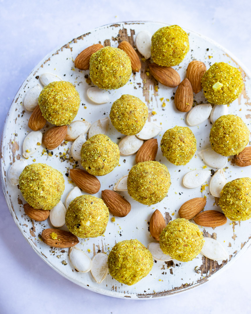 Almond Turmeric Bliss Balls