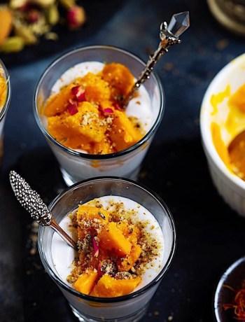 Vegan Dessert with Mango and Coconut Cream